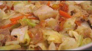 Ginisang Repolyo Baboy Pinoy Cabbage Pork Recipe Tagalog Filipino
