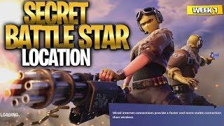 SEMANA 1 SEGREDO BATTLE STAR GUIA DE LOCALIZAÇÃO! -Fortnite encontre a estrela de batalha secreta na tela de carregamento 1