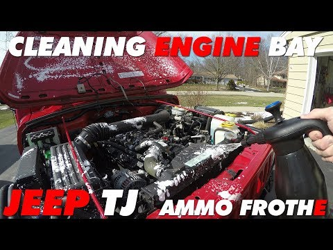 Cleaning Jeep TJ Engine Bay with AMMO Frothe