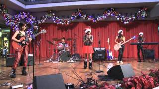 "Kids Rock Band plays ""I Saw Mommy Kissing Santa Claus""  covered by Chaotic Five"