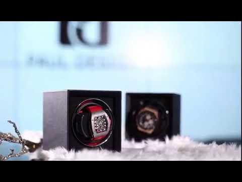東暉代理 PAUL DESIGN P1 英國保羅設計手錶自動上鍊盒(小體積設計免插電) 旋轉盒 搖錶器 收藏盒錶盒 白