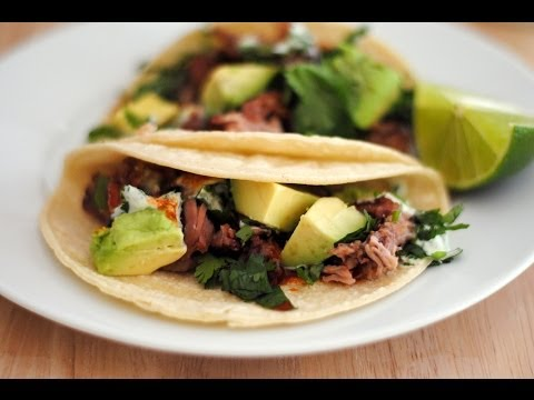 How To Make Carnitas Tacos With Cilantro Lime Sauce