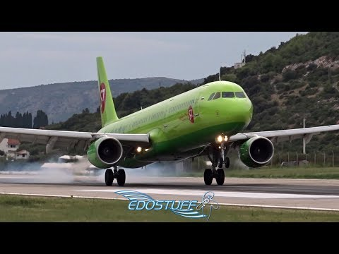 S7 Airlines - Airbus A321-211 VQ-BQI - Landing At Split Airport LDSP/SPU