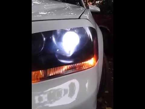 2011 dodge avenger projector headlight - YouTube