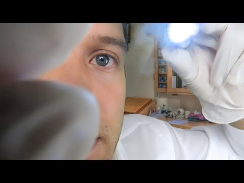 ASMR Doctor | Eye Exam Role Play | Light Triggers and Close Whispers