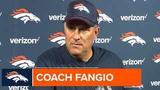 Coach Fangio on Drew Lock's performance in #DENvsHOU: 'He played, obviously, very well'