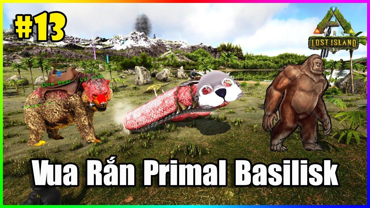 ARK: LostIsland #13 - Vào Rừng Đỏ Bắt Thêm Nhiều Thú Lạ, Đụng Độ Vua Rắn Primal Basilisk