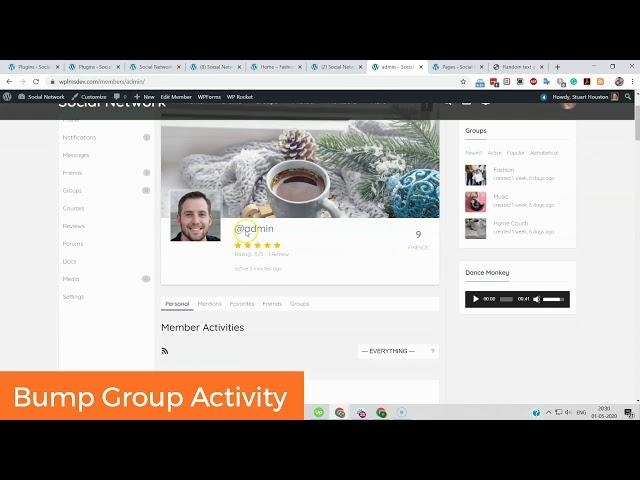 BuddyPress Activity Bump | WordPress Social Network Website Addon | Free BuddyPress Plugin By Wbcom