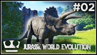 Utekl nám první dinosaur! JURASSIC WORLD EVOLUTION #02 [ 4K ]