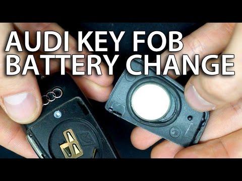 How to change battery Audi flip key fob remote (A3 A4 A5 A6 A7 A8 Q3 Q5 Q7 DL2032)