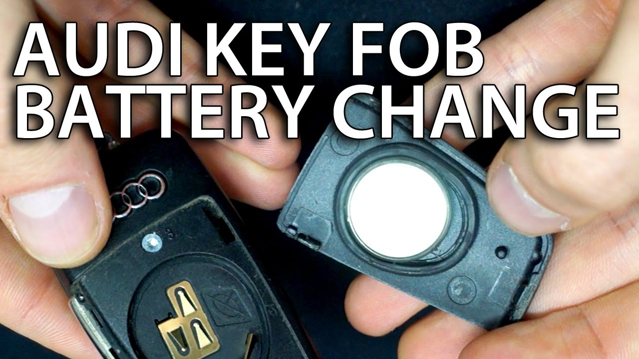 How To Change Battery Audi Flip Key Fob Remote A3 A4 A5 A6 A7 A8 Q3