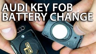 how to change battery audi flip key fob remote a3 a4 a5 a6 a7 a8 q3 q5 q7 dl2032