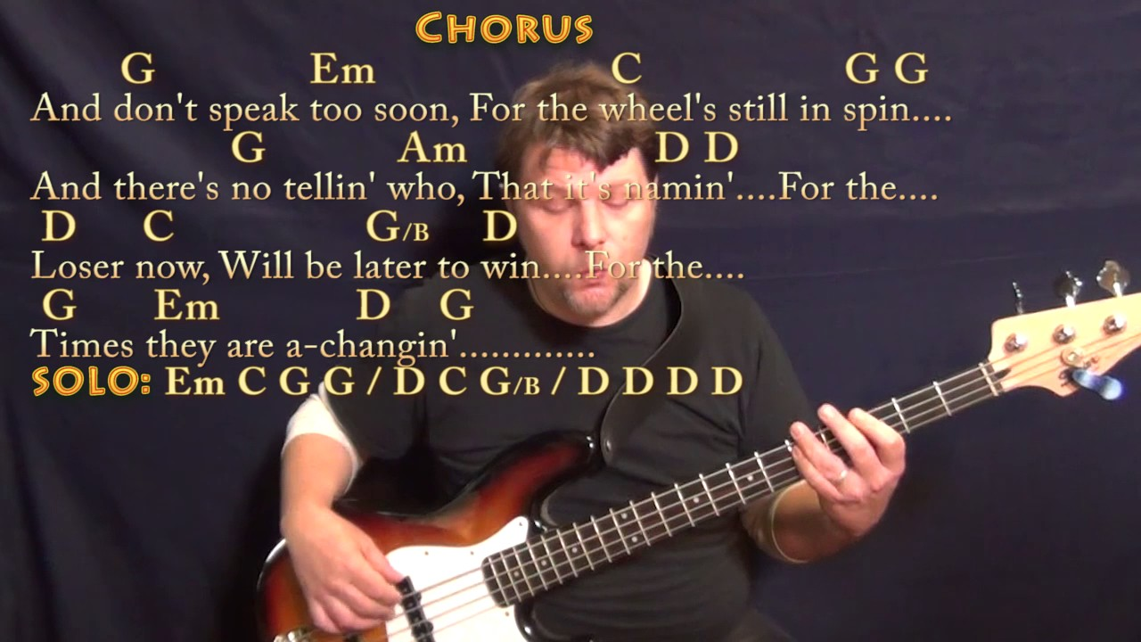 The times they are a changin bob dylan bass guitar cover lesson the times they are a changin bob dylan bass guitar cover lesson with chordslyrics hexwebz Images