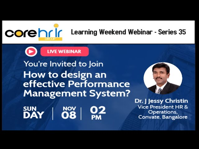 How to design an effective Performance Management System?
