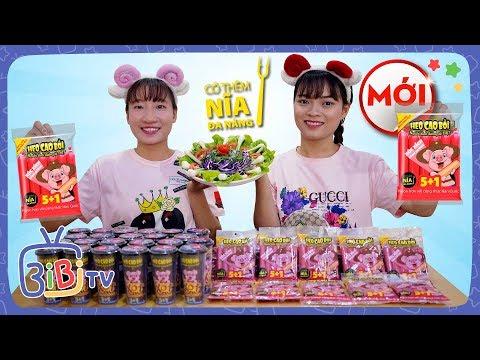 Hai Chị Em Ăn Xúc Xích Dinh Dưỡng Heo Cao Bồi 5+1 ❤ BIBI TV ❤