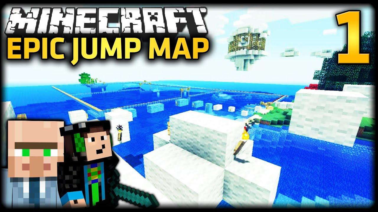 Minecraft Epic Jump Map 1 Mit Gommehd Version 1 1 Youtube