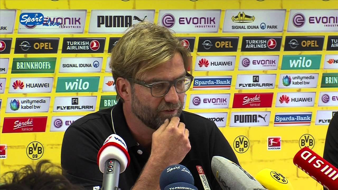 Borussia Dortmund - VfB Stuttgart : BVB Bundesliga Pressekonferenz