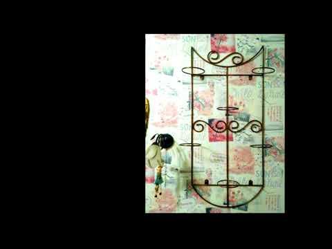 Металлическая подставка для цветов на стене, полка кованая, цветочница настенная
