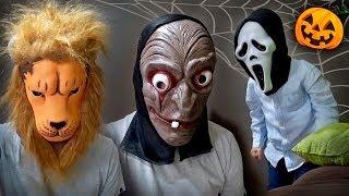 SCARY HALLOWEEN MASKS!! 🎃Brancoala and Maikito - Masks for Kids and Family