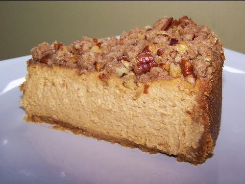 Pumpkin Cheesecake with Pecan Crumble - Gluten Free