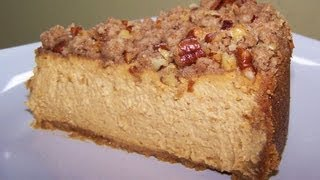 Pumpkin Cheesecake With Pecan Crumble - Gluten Free