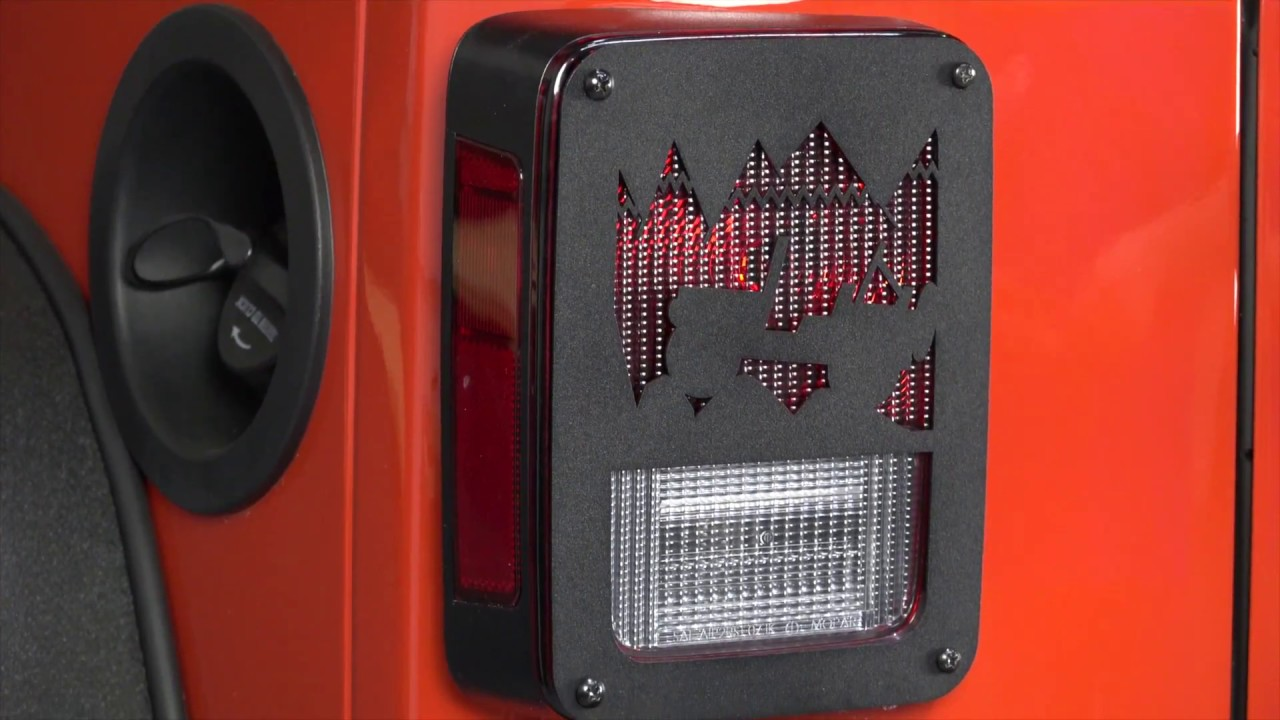 Kentrol Jeep Heritage Tail Light Covers For JK Wrangler Installation Guide  | 80702