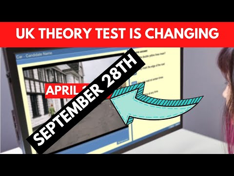 Theory Test Changes.  April 2020