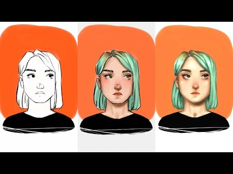 how to paint digitally over lineart (in firealpaca)