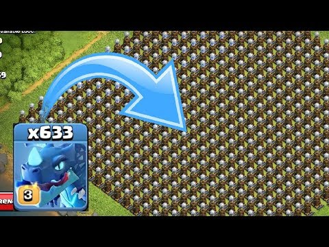 100 Electro Dragon Vs 484 Hidden Tesla Level 10 | Clash Of Clans