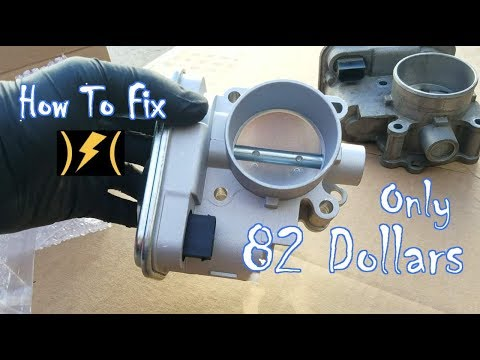How to Replace Throttle Body Dodge Avenger & Dodge Caliber (Electronic Throttle Control Light Fix)
