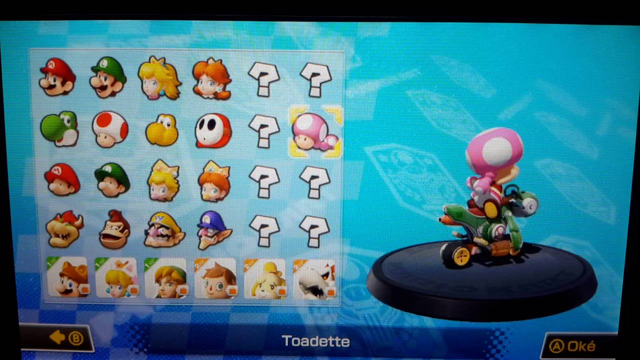 Mario Kart 8 Wii U Gameplay Unlocked Toadette