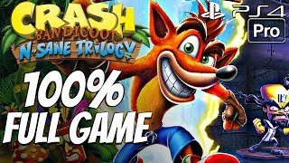 Crash Bandicoot (PS4) - Gameplay Walkthrough 100% Complete All Boxes, All Gems, All Relics FULL GAME