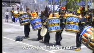 Big Drum Kids From Minangkabau Sumatra