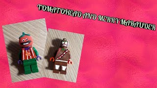 Lego custom Fortnite skins Tomatohead and Merry Marauder!!!