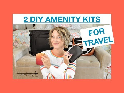 2 DIY Travel Kits (Amenities & Protect Valuables)