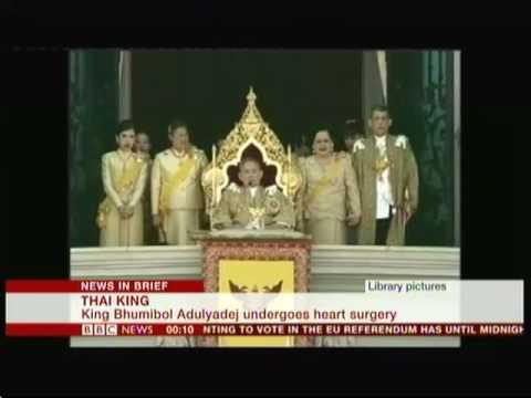 World's longest reigning monarch (Thailand) - BBC News - 8th June 2016