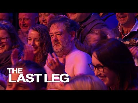 Johnny Vegas Ends Up Topless In The Audience – The Last Leg Of The Year
