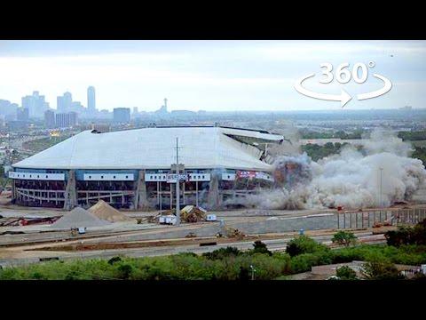 Dallas Cowboy Stadium Implosion in 360 - BigLook360