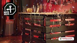 "Tresen aus Paletten selber bauen - DIY-Anleitung ""Mobile Partybar"""