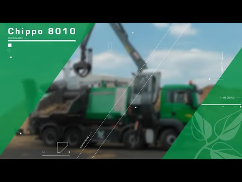 Komptech Chippo 8010C chipping logs