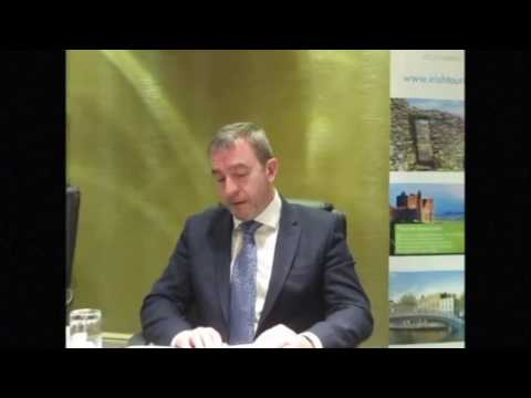 Paul Gallagher speaking about value for money in Irish tourism