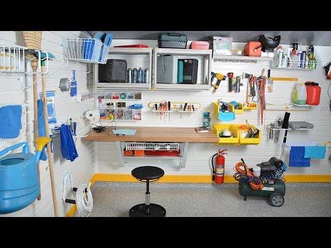 видео: Мебель и оборудование для мастерской в гараже при доме. Удобный гараж с мастерской под ключ (видео)