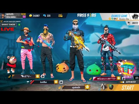 Free Fire Live - Heroic GrandMaster Push Global No.1 In India