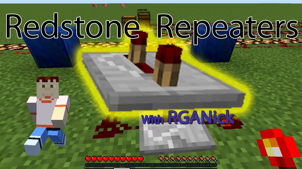minecraft how to use redstone repeaters youtube rh youtube com