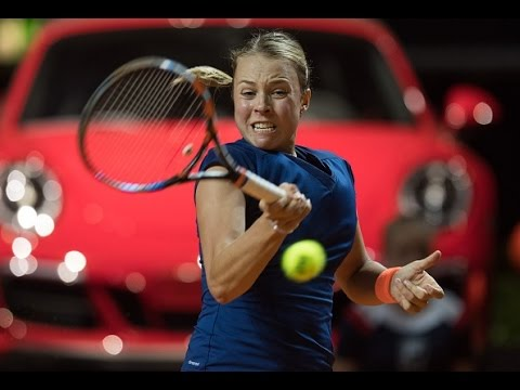 2017 Porsche Tennis Grand Prix Second Round |  Anett Kontaveit vs Garbiñe Muguruza | WTA Highlights
