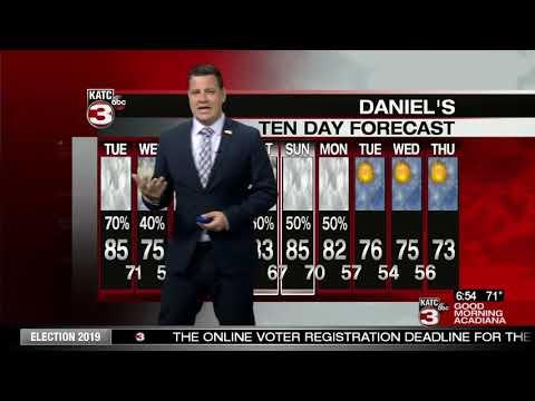 Daniel's Tuesday WeatherCast 10/15/19