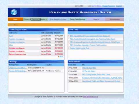 Health and Safety Management System Software Demo