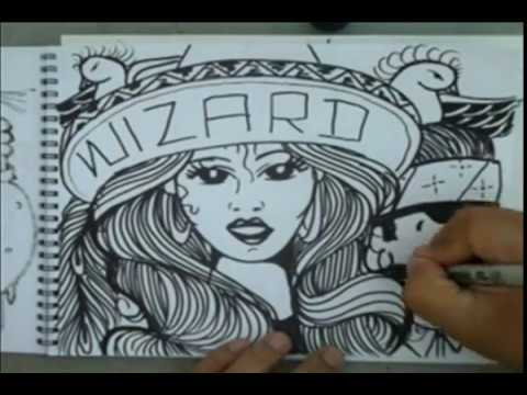 Drawing some CHICANO ART- Gangsta Drawing