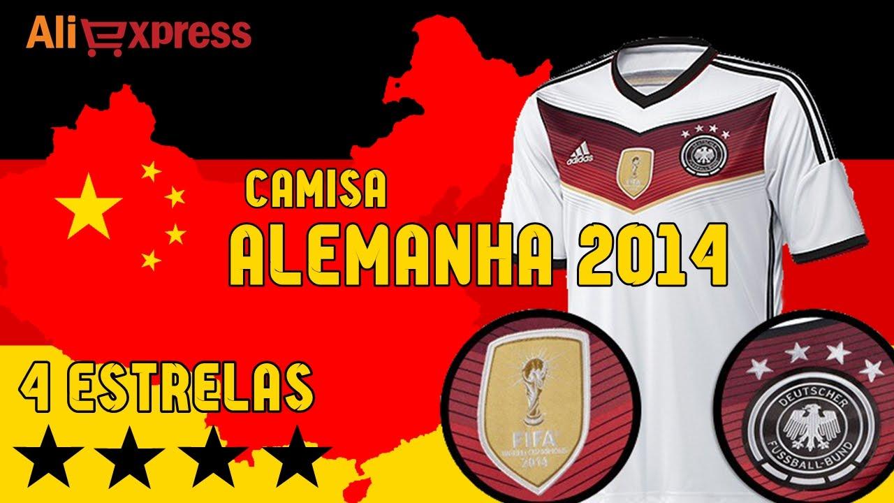 6bc3c9294b  05 Unboxing Camisa da Alemanha Home 4 Estrelas 2014 - AliExpress - YouTube