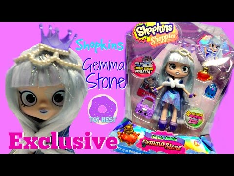 GEMMA STONE Shopkins Shoppies Special Edition Black Friday Walmart Exclusive Doll Unboxing Review
